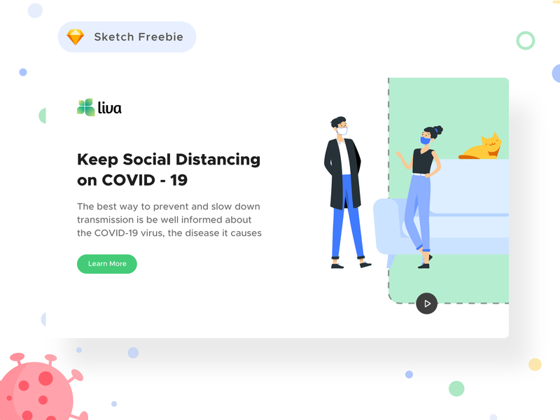 Coronavirus Social Awareness Landing Page ( Free Sketch FIle ) webdesign website design 2020 design trending covid-19 coronavirus user experience designer user experience user interface userinterface website illustration web bangladesh branding flat ux ui design minimal