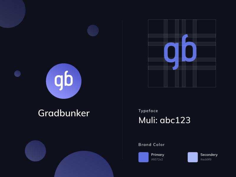 Gradbunker | Brand Guidelines icon branding branding design brand identity brand design logodesign vector logo bangladesh design minimal