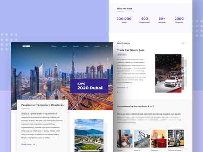 Construction Company Landing Page [Free Sketch File] freebies landing page design landing page website design user interface design best dribbble shot 2020 design construction construction company trending user experience userinterface website flat web branding ux ui design minimal