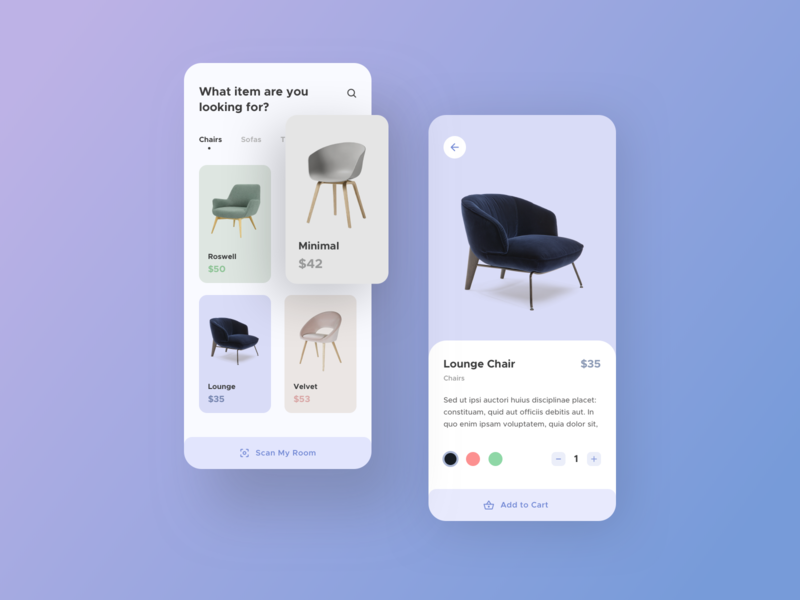 Furniture App UI user interface design user experience userinterface user interface ikea clean design clean app sell buy e commerce furniture app furniture application app design flat ux ui design minimal