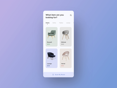 Furniture App Interaction smooth animation userinterface sell buy best dribbble shot 2020 design trend user experience user interface 2020 interactive interface furniture app ecommerce animation app ui ux design minimal