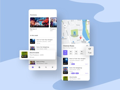 CarteleraApp Cine UI II user experience design user interface trend 2020 best dribbble shot cinema user app flat clean ui user experience userinterface movie movie poster movies movie app ux ui design minimal