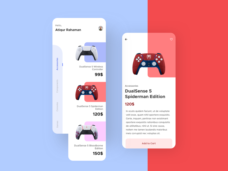Gaming Gear E-commerce UI best dribbble shot gadgets gear 2020 user interface design user experience userinterface ecommerce design ecommerce shop ecommerce app ecommerce gaming website gaming app gaming app flat ux ui design minimal