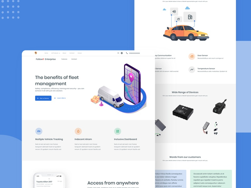 FollowR Enterprise - Vehicle Tracking Solution illustraion user interface design user interface landing page design landingpage bangla map location vehicle tracking dingi startup userinterface user experience branding bangladesh web flat ux ui design minimal