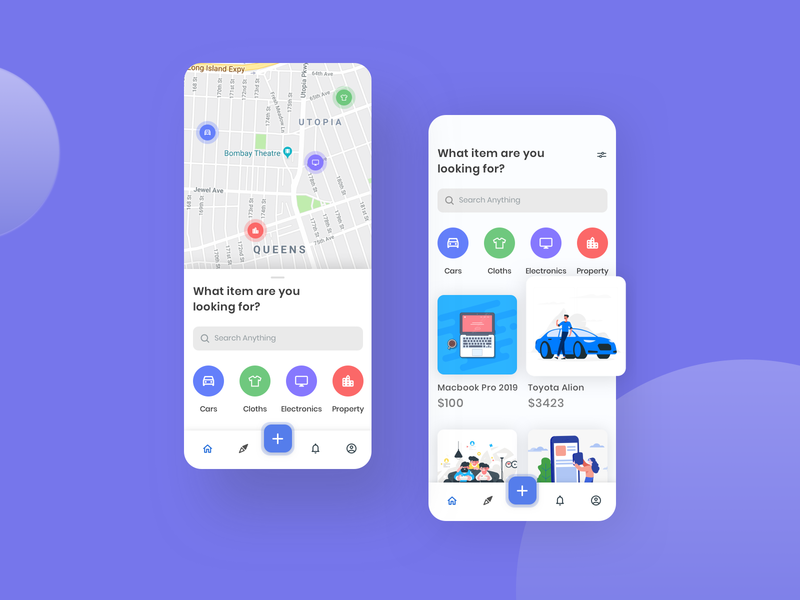 Grab It! - E-commerce App UI app user interface user interface design best dribbble shot illustraion map 2020 trend user experience userinterface used product used car ecommerce app ecommerce design sell buy ecommerce ui ux design minimal