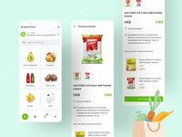 Grocery Plus - Grocery App Exploration grocery list minimalist trend 2020 best dribbble shot app design apple concept user interface design illustration userinterface user experience app flat design ux ui grocery online grocery store grocery app minimal