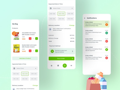 Grocery Plus - Grocery App Exploration II home delivery app concept ui design uxdesign ui  ux userinterface user experience user interface design minimalistic minimal 2020 trend best dribbble shot app design grocery groceries app grocery online grocery store grocery app
