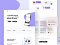 Faithcircle Landing Page social app 2020 trend best dribbble shot ux ui design minimal branding userinterface user experience landing page product product design redesigned website redesign website design landing page design landingpage webdesign