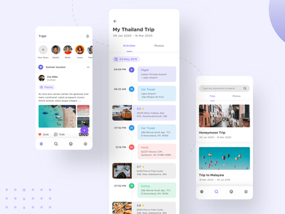 Tripler - Travel App Exploration (Sketch Freebie) ux design ui design app design 2020 trend trend best dribbble shot social freebie product design user experience design user interface design user interface sketch trip planner trip tour travel app ui travel app design traveling travel app