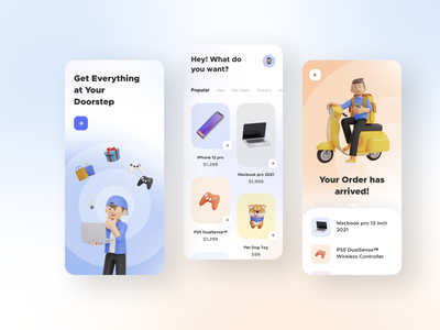 Ecommerce App UI Freebie app design clean ui dribbble best shot 3d art trend 2021 ecommerce best dribbble shot user interface design minimal ux ui userinterface user experience delivery app online store online shopping ecommerce business ecommerce design ecommerce shop ecommerce app