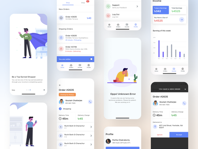Joldiman - Earn Money in Your Locality product design minimal 2021 trend instant shopping bag groceries deliver best dribbble shot user interface design user experience app design ux ui bazar shopping delivery status delivery delivery service delivery app
