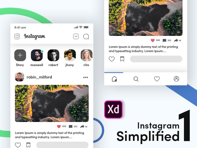 Instagram Simplified_1 minimalist design minimal simplification simplicity simplify instagram icon instagram feed instagram design ux bangladesh app ui