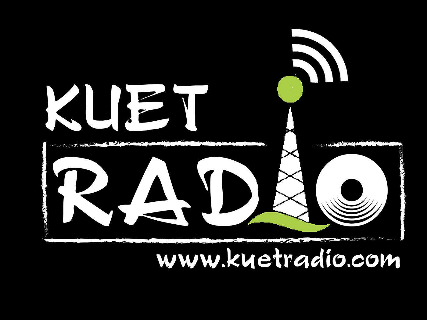 Logo - KUET Radio web website vector lettering illustrator illustration identity flat typography logo design branding minimal bangladesh