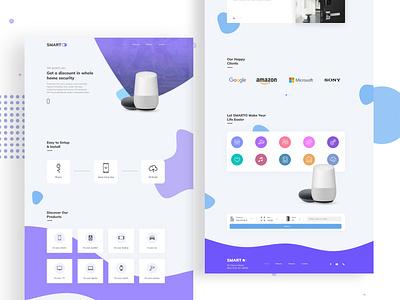 Smarto - Make Your Home Smart illustration branding web ux ui design bangladesh minimal