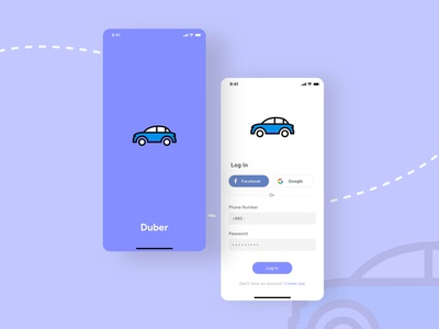 Duber - Ride Sharing Login
