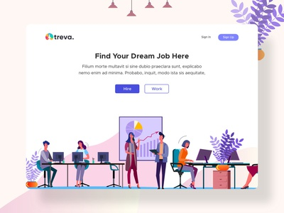 Treva - Job Hiring Platform Exploration (Sketch Freebie)