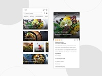 Food Recipe App Concept