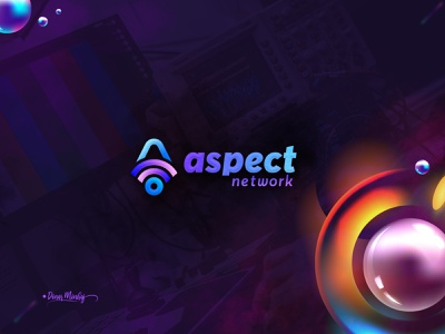 Aspect Network Logo graphic design vector ui illustration lettering logo typography logo logo design branding design typography