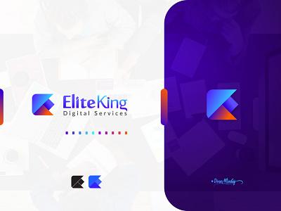 EliteKing Logo vector ui illustration lettering logo typography logo logo design branding design typography