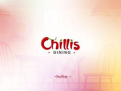 Chillis_dining_logo_design_dinar_minhaj vector ui lettering illustration typography logo logo design branding logo design typography