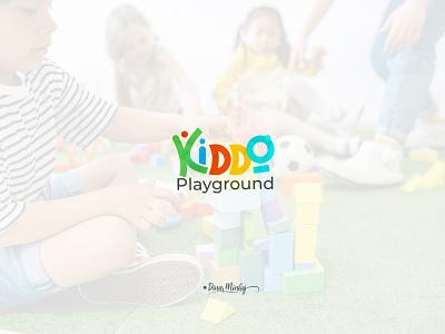 Kiddo Playground Typography Logo vector ui illustration lettering logo typography logo logo design branding design typography