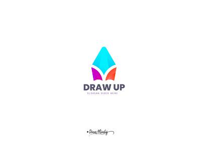 DrawUp pencil Logo design icondesign ui vector illustration lettering logo typography logo logo design branding design typography