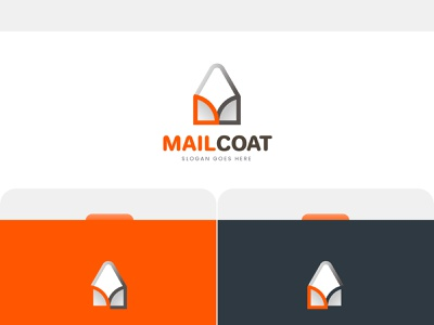 Mail Coat Icon & Logo Design messageicon icondesign mail icon vector ui illustration lettering logo typography logo logo design branding design typography