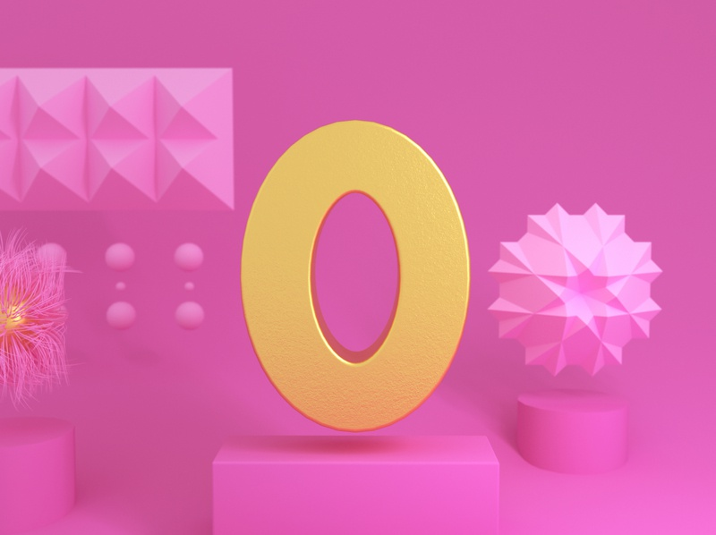 Zero design ux 36daysoftype artwork ui typography graphic 3d design 3dtype cinema4d