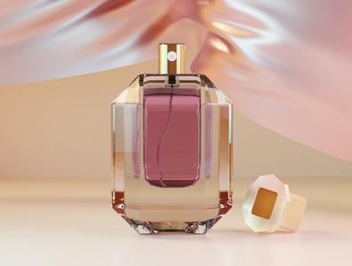 Rosy Sleek branding illustration motion design cinema4d 3d render 3d model product design perfume