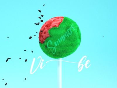 Summer Vibe cinema4d graphic logo ui ux branding vector typography artwork illustration
