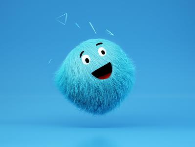 Blue Doobie sticker web icon logo graphic vector design cinema4d artwork illustration character design