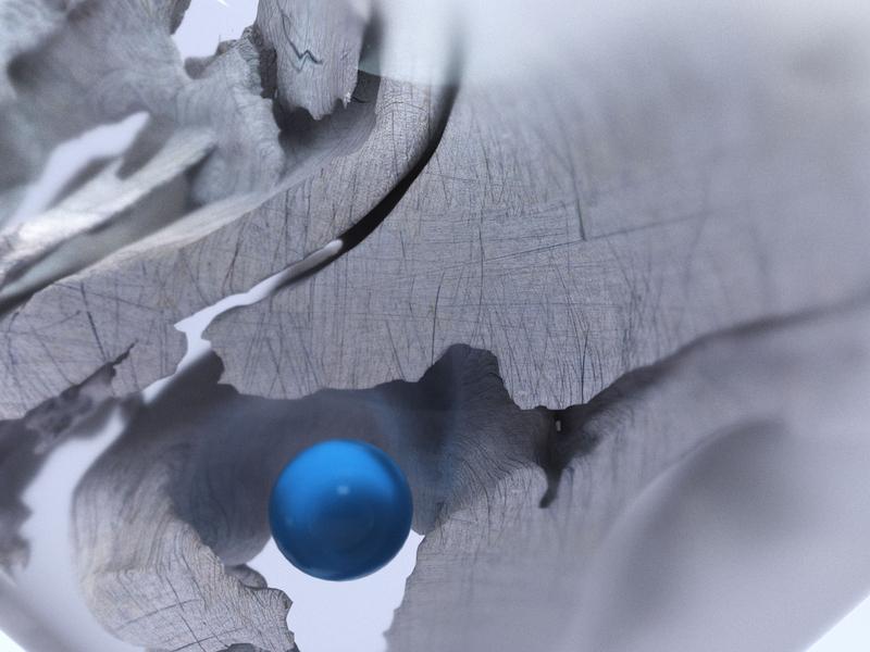 Stone Crumbling graphic branding artist design 3d design cinema4d artwork illustration