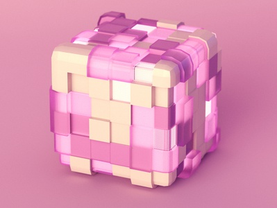 Sweet Cube cotton candy arnold render artwork design vector graphic 3d design cinema4d