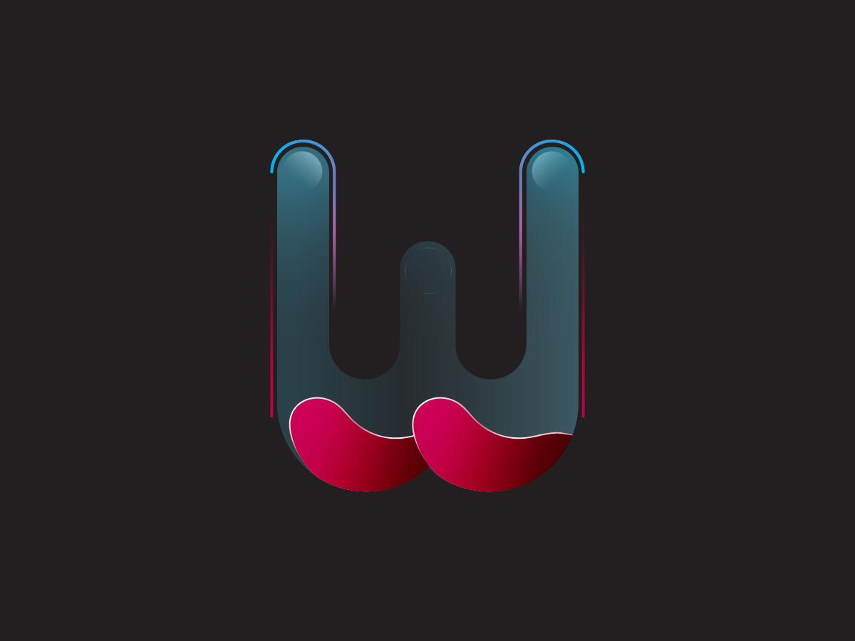 Water flow logo vector 36 days of type typogaphy illustration