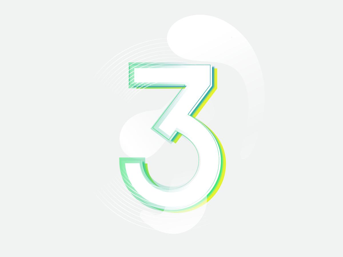 Trident artist 36 days of type typography ui logo vector illustration