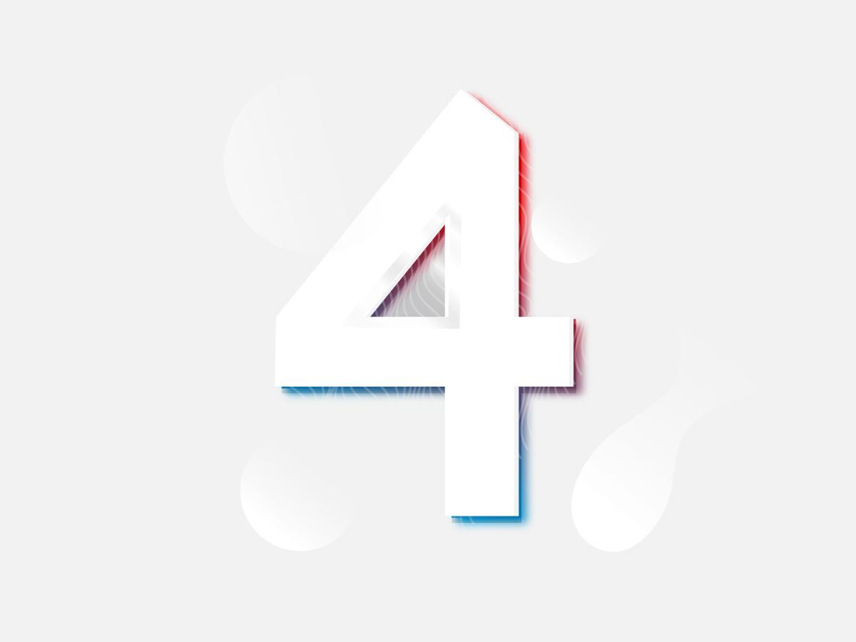 Fluid Four white branding ui gradients illustration typography 36 days of types
