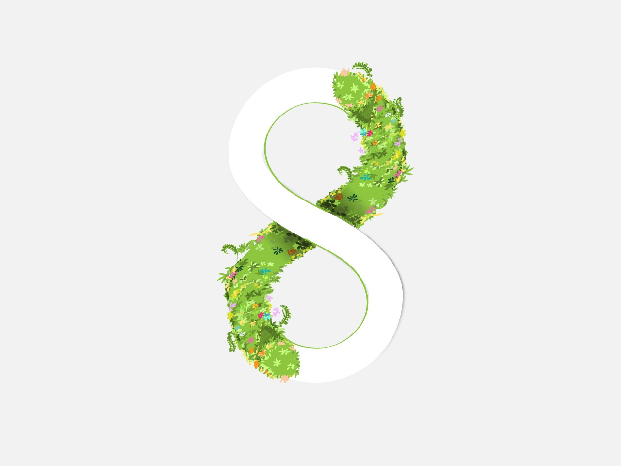 Infinity Eight design typography 36daysoftype artwork ui vector illustration