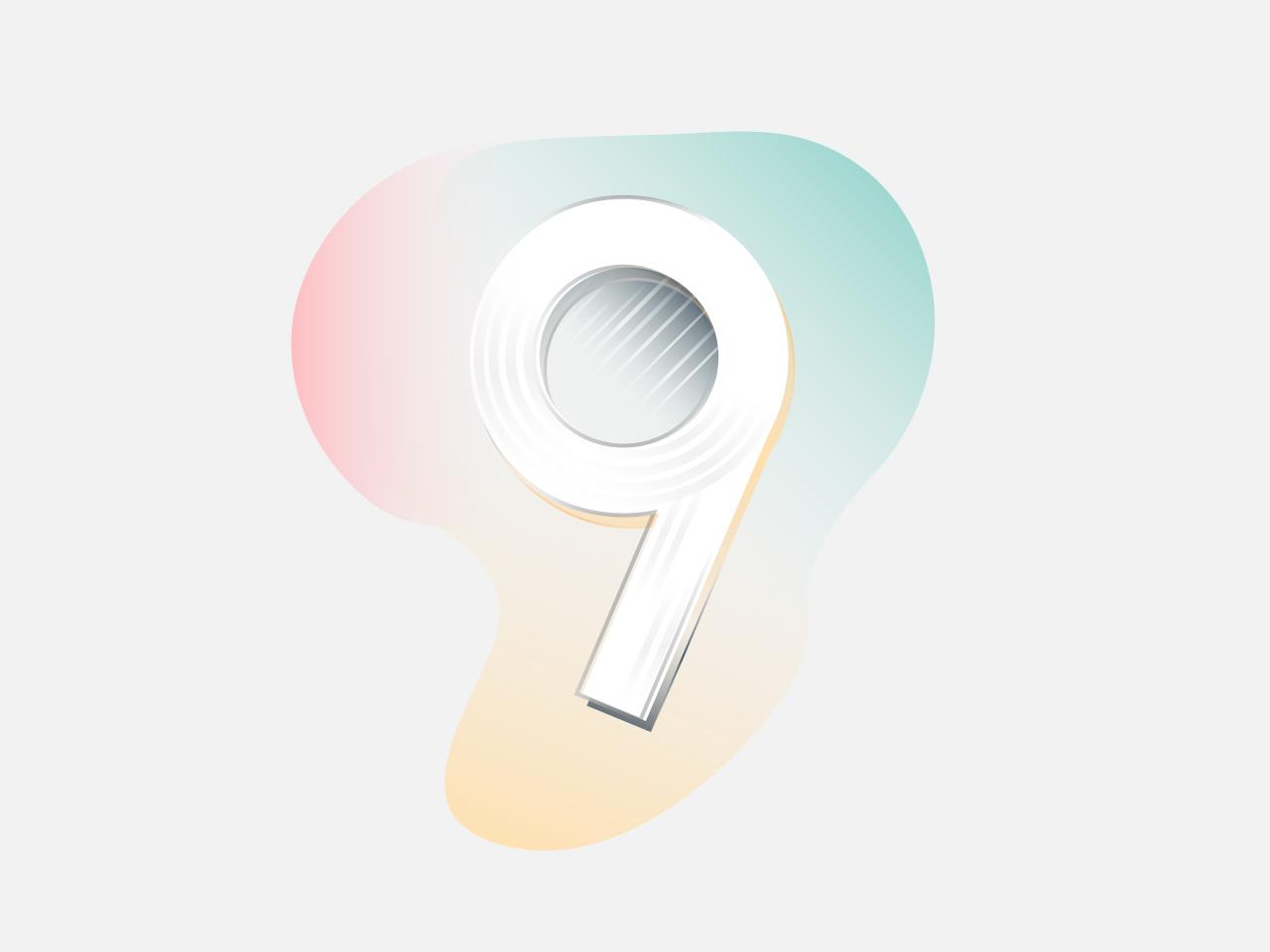 Tri Nine artwork logo 36daysoftype vector ux typography branding ui illustration