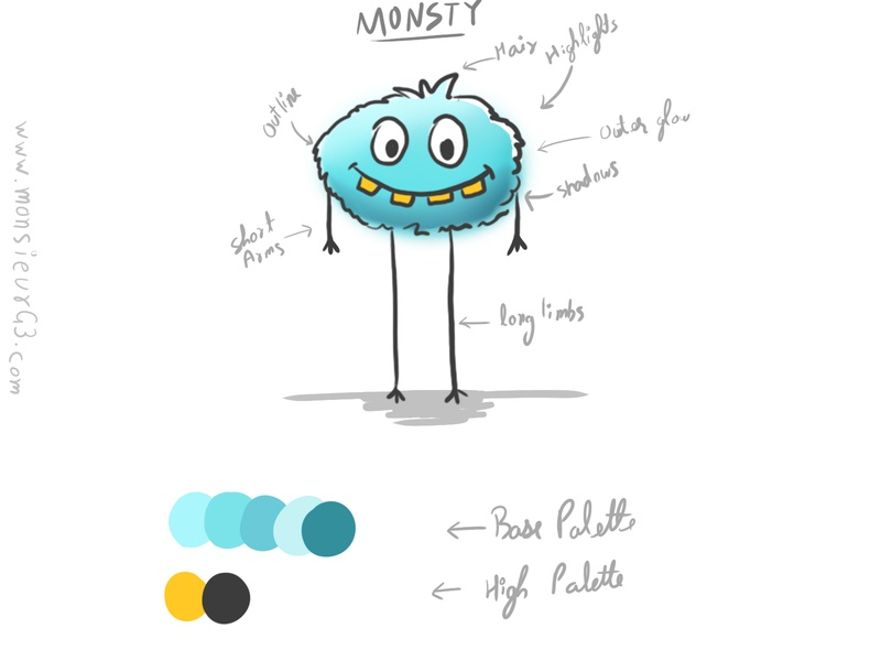 Monsty Stickers Pack 1 monster stickers concept character design character art design illustration
