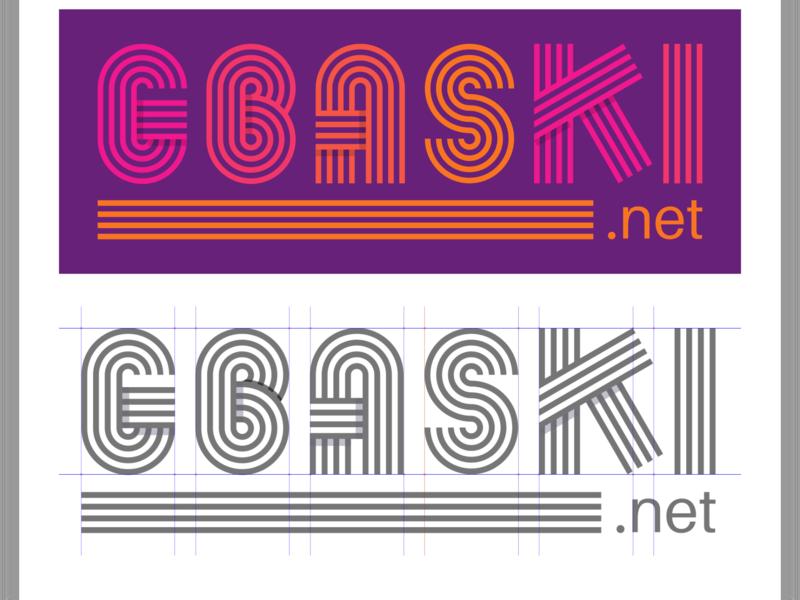 Gbaski Retro Style ux design ads branding inkscape