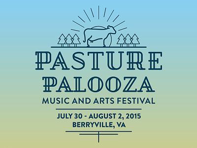 Pasture Palooza Music and Arts Festival Branding logo branding festival music