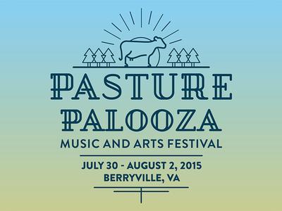 Pasture Palooza Music and Arts Festival Branding