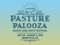 Pasture Palooza Music and Arts Festival Branding