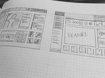 Sketchbook Admin Interface sketchbook concept interface wireframe