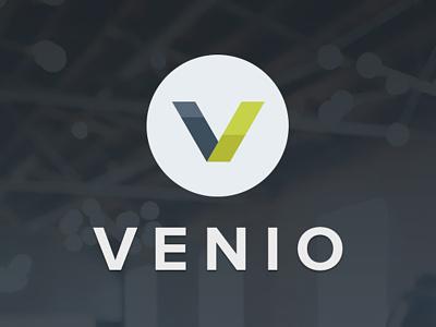 Venio App Logo concept app branding logo