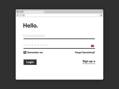 001 Sign Up - 100daysofui ui login signup 001 dailyui