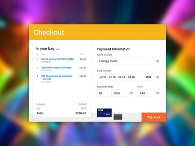 Credit Card Checkout ui checkout 002 dailyui