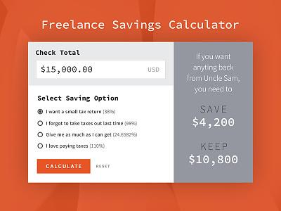 Calculator taxes freelance calculator 004 dailyui