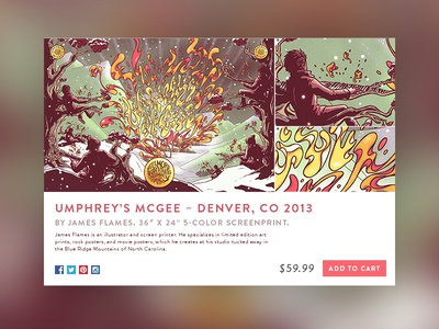 E-Commerce Shop (Single Item) umphreys poster item shop ecommerce 012 dailyui