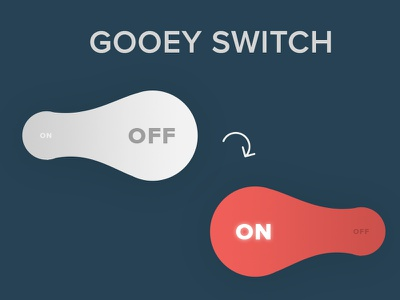 On Off Switch gooey switch off on 015 dailyui